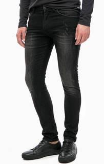 Черные джинсы скинни с потертостями Wrangler