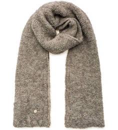 Серый вязаный шарф Noryalli