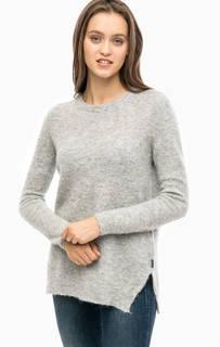 Серый свитер с вырезом на спине Barbour