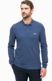 Однотонная хлопковая футболка поло Lacoste