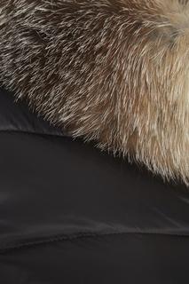 Пуховик с мехом на капюшоне Tinuviel Moncler