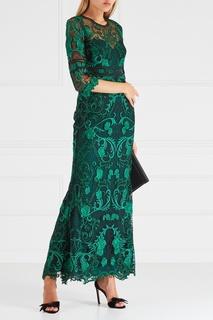 Платье с вышивкой Marchesa Notte
