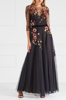 Платье с вышивкой пайетками Marchesa Notte