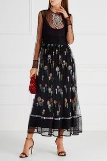 Платье с вышивкой RED Valentino