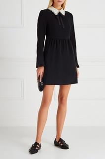 Платье с контрастным воротником RED Valentino