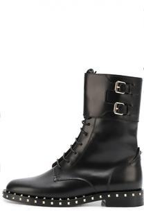 Кожаные ботинки Soulstud с двумя ремешками Valentino