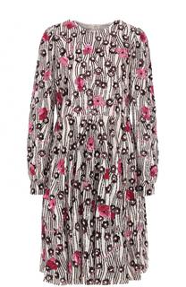 Приталенное платье-миди с пайетками Valentino