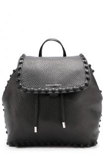 Кожаный рюкзак с декоративной отделкой Dsquared2