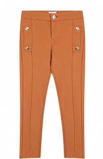 Трикотажные брюки зауженного кроя с декоративными пуговицами Chloé