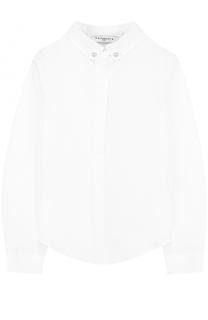 Хлопковая блуза с воротником button down Givenchy