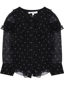 Прозрачная блуза с оборками и принтом Givenchy