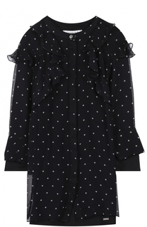 Мини-платье с оборками и принтом Givenchy
