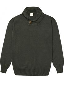 Вязаный свитер с декоративной пуговицей Kuxo Cashmere