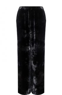 Бархатные брюки прямого кроя с карманами Raquel Allegra