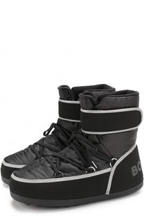 Утепленные сапоги на шнуровке с застежкой велькро Bogner
