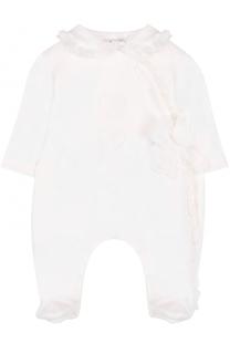 Хлопковая пижама с оборками и бантом Aletta