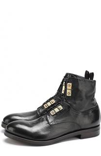 Высокие кожаные ботинки на шнуровке Raparo