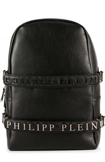 Кожаный рюкзак с декоративными ремешками Philipp Plein