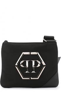 Текстильная сумка-планшет с логотипом бренда Philipp Plein