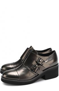 Кожаные монки на массивном каблуке Vic Matie