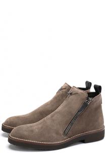 Замшевые ботинки Austin с внутренней меховой отделкой Giuseppe Zanotti Design