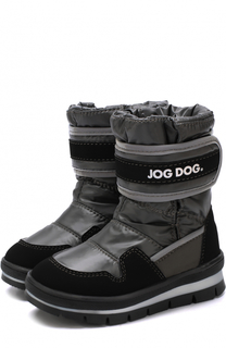Текстильные сапоги с застежкой велькро Jog Dog