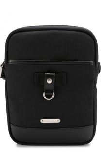 Текстильная сумка-планшет с кожаной отделкой Saint Laurent