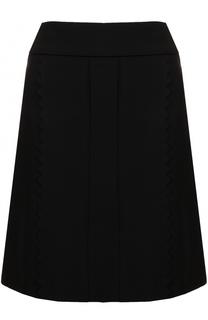 Однотонная юбка А-силуэта Tara Jarmon