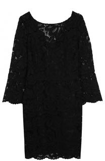 Приталенное кружевное платье с укороченным рукавом Tara Jarmon