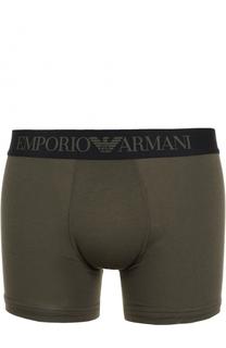Хлопковые боксеры с широкой резинкой Emporio Armani