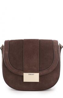 Замшевая сумка с клапаном DKNY