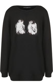 Пуловер свободного кроя с вышивкой Pietro Brunelli