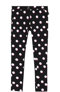 Хлопковые брюки прямого кроя с принтом Marc Jacobs