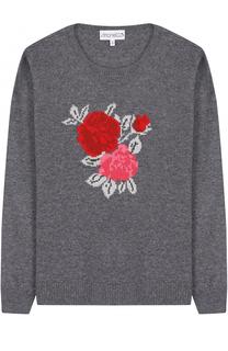 Текстильный джемпер с цветочным принтом Simonetta