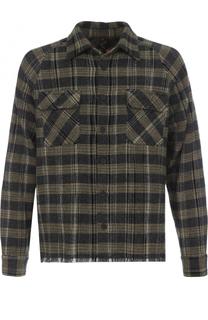 Кашемировая рубашка в клетку с необработанным краем Missoni