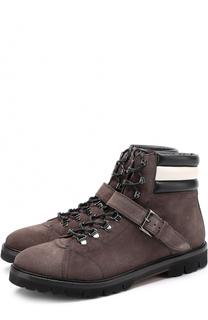 Высокие замшевые ботинки на шнуровке Bally