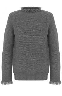 Шерстяной свитер свободного кроя Sacai
