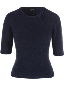 Вязаный пуловер с круглым вырезом и коротким рукавом Escada