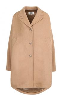 Шерстяное пальто свободного кроя Mm6