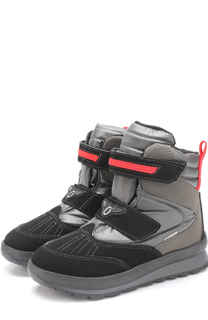 Комбинированные ботинки с застежками велькро Jog Dog