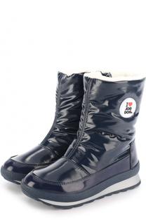 Текстильные утепленные ботинки с аппликацией Jog Dog