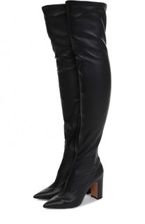 Кожаные ботфорты Side на устойчивом каблуке Valentino