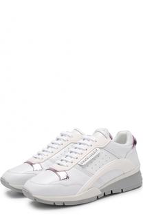 Кожаные кроссовки на шнуровке Dsquared2