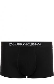 Комплект из трех хлопковых боксеров с широкой резинкой Emporio Armani