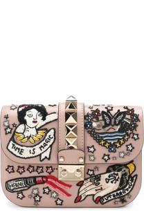 Сумка Glam Lock small с вышивкой Valentino