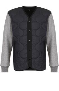 Стеганая куртка на кнопках с контрастными рукавами Rag&Bone Rag&Bone