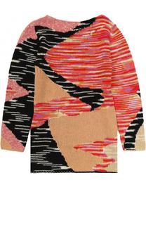 Вязаное мини-платье прямого кроя с принтом Missoni