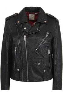 Кожаная куртка прямого кроя с косой молнией Zadig&Voltaire Zadig&Voltaire