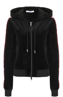 Бархатный кардиган на молнии с капюшоном Givenchy