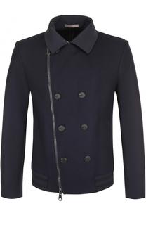 Куртка из смеси шерсти и кашемира с косой молнией Armani Collezioni